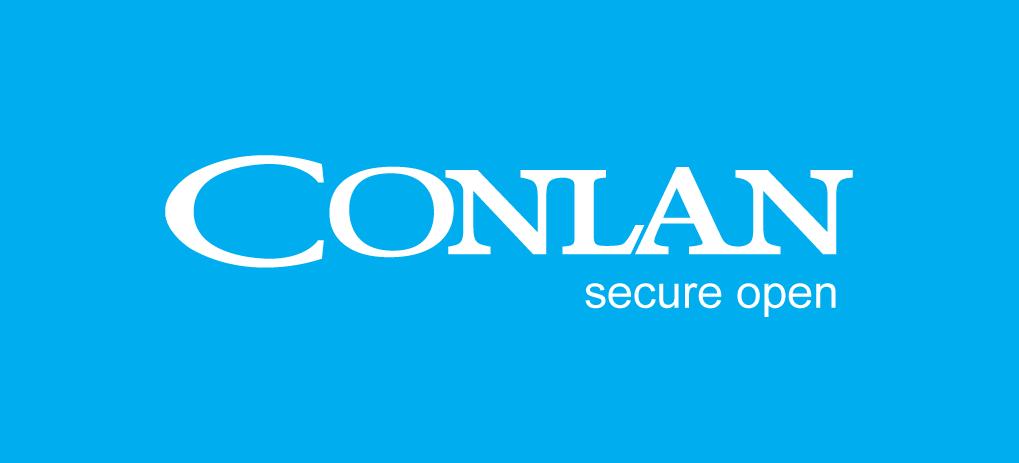 Conlanlogo_blå_secure_open